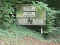 Cranborne - old road sign on former B3081 - geograph.org.uk - 944343.jpg