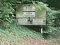Cranborne - old road sign on former B3081 - geograph.org.uk - 944343.jpg