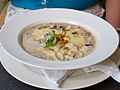 Creole seafood gratin with button mushrooms sauteed and onion soubise salsa.jpg
