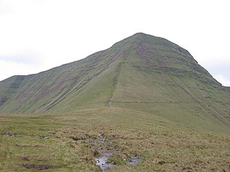 Cribyn (mountain) - The nose of Cribyn from its north ridge