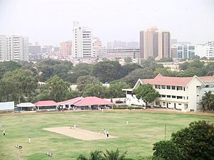 Karachi Gymkhana Ground, overlooking downtown ...