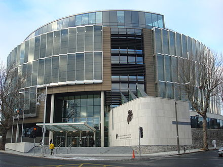 The Criminal Courts of Justice is the principal building for criminal courts. CriminalCourtofJusticeDublin.jpg
