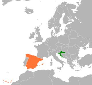 Croatia–Spain relations