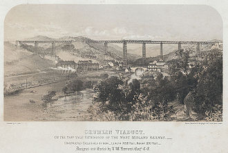 West Midland Railway - Taff Vale Extension of the West Midland Railway and Crumlin Viaduct.