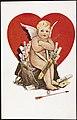 Cupido sittende på veske med kjærlighetsbrev, 1912 (12429057065).jpg