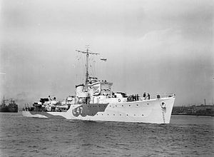 Hunt-class destroyer - HMS Blean