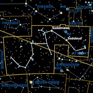 Aquarius constellation -- Colored and translat...