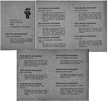 Pionierorganisation Ernst Thalmann Wikipedia
