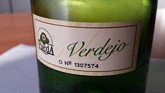 Rueda (DO) - Official DO label as found on the back of a Rueda region wine bottle