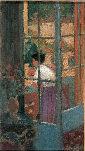 Dugald Sutherland MacColl - On the Terrace, 1922.