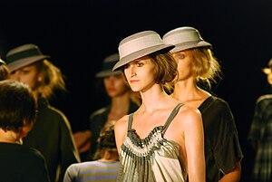 Daiane Conterato modeling for Huis Clos, Fall ...