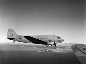 Dakota 267 Sqn RAF in flight over Adria 1944.jpg