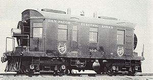 GE 57-ton gas-electric boxcab - Image: Dan Patch 100 1913