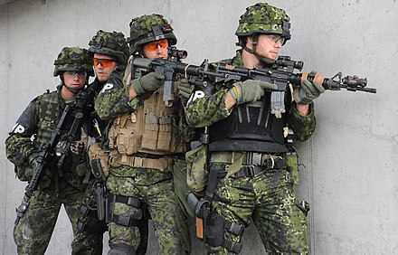 Danish MP-soldiers conducting advanced law enforcement training Danish Military Police.JPG