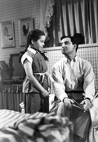 Sherry Jackson - Sherry Jackson with Danny Thomas on Make Room For Daddy (ca. 1955)