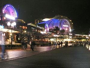Harbourside Shopping Centre - Harbourside Shopping Centre during Vivid Sydney