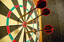 Darts in a dartboard