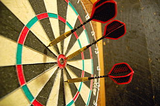 Darts - Darts in a dartboard