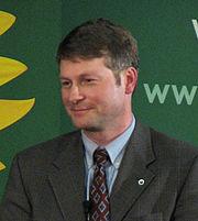 David Chernushenko at the June 21, 2006, leadership debate of the Green Party of Canada.