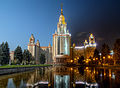 Day to night - Lomonosov Moscow State University (MSU) (7181447618).jpg