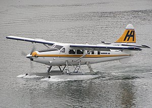 Floatplane - A De Havilland Canada DHC-3 Otter floatplane in Harbour Air livery