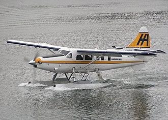 Floatplane - A De Havilland Canada DHC-3 Otter floatplane in Harbour Air livery