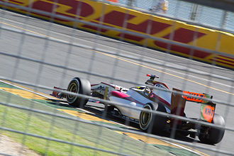 2012 Australian Grand Prix - HRT failed to qualify either car for the race; Pedro de la Rosa (pictured) and Narain Karthikeyan were both over one second beyond the 107% cut-off time.