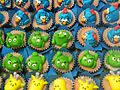 Decorated cupcakes with characters.jpg
