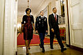 Defense.gov News Photo 101115-A-0193C-016 - President Barack Obama right Staff Sgt. Salvatore Giunta and First Lady Michelle Obama enter the East Room of the White House to begin the Medal.jpg