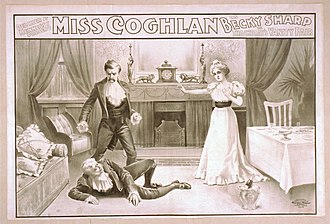 1900 poster of Gertrude Coghlan as Becky Sharp