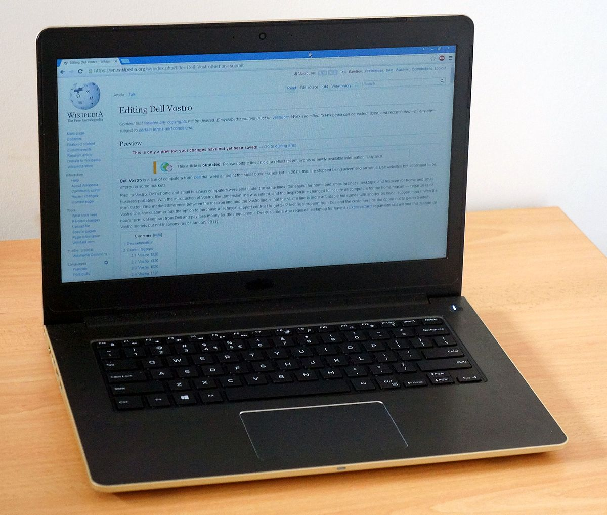 dell vostro wikipedia rh en wikipedia org Custom Dell Lids Dell Ultralight Laptop