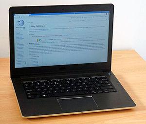 Dell Vostro - A photo of a Dell Vostro 14 V5459-50814G-DOS laptop.
