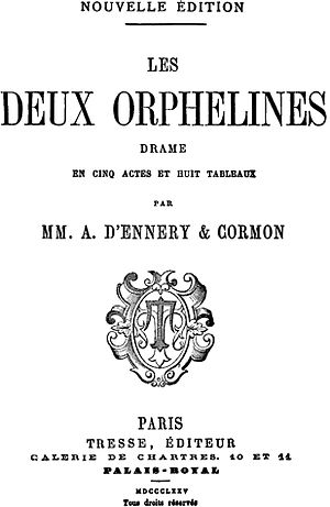 The Two Orphans (play) - Image: Dennery Cormon 2Orphans