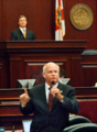 Dennis Baxley offers remarks on the House floor promoting the House budget.png