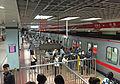 Departures platform for L1 at Sihui East Station (20160428184236).jpg
