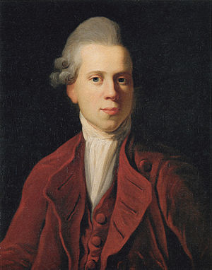 Nicolai Abildgaard - Portrait of Nicolai Abildgaard by Jens Juel (1772)