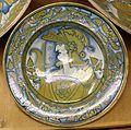 Deruta, piatto con busto di guerriero, 1500-30 ca. 02.jpg