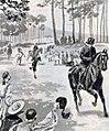 Dessin de la course du Marathon aux JO 1896, par Raymond de la Nézière.jpg