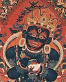 Detail, 15th-century painting from Tibet, Central Tibetan - Mahakala, Protector of the Tent - Google Art Project (cropped) (cropped).jpg