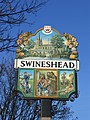 Detail of village sign, Swineshead, Lincs - geograph.org.uk - 645946.jpg