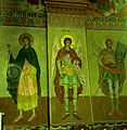 Detaliu de pictura murala, biserica din Racovita, Sibiu.jpg