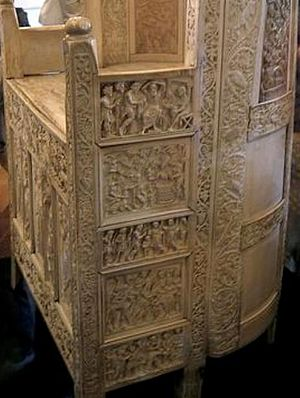 Ivory carving - The throne of Maximianus, c. 550, made in Constantinople