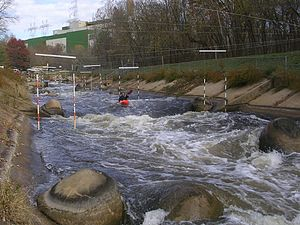 Dickerson Whitewater Course - Midpoint of the 900-foot-long course.