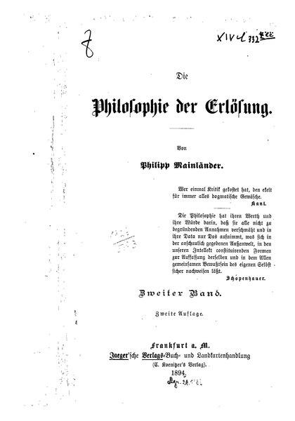File:Die Philosophie der Erlösung - Zweiter Band.djvu