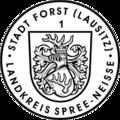 Dienstsiegel der Stadt Forst (Lausitz) laut Anlage 6 der Hauptsatzung.png