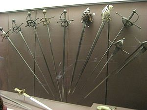 Rapier - Collection of early modern swords (17th to 18th centuries) at the George F. Harding Collection of Arms and Armor, the Art Institute of Chicago.