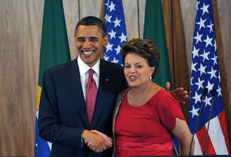 President - Presidents Obama and Rousseff of the United States and Brazil.
