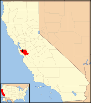 Roman Catholic Diocese of San Jose in California - Image: Diocese of San Jose in California map 1