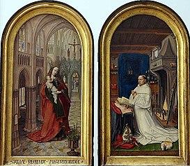 La Sainte Vierge avec l'enfant Jésus. Chrétien de Hondt, abbé de Notre-Dame des Dunes