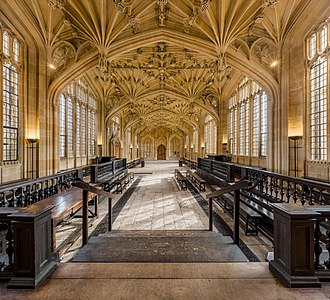 The University of Oxford is the oldest university in the United Kingdom and among world's best ranked. Divinity School Interior 2, Bodleian Library, Oxford, UK - Diliff.jpg